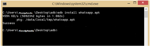 how to android apply update from ADB