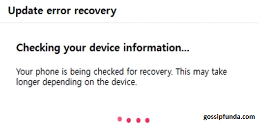 Checking Recovery