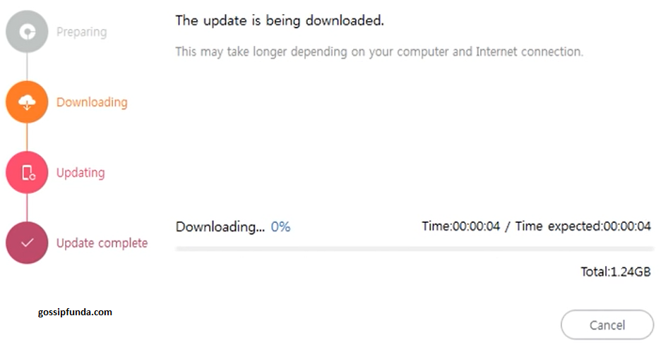 Downloading the update