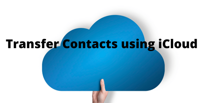 Transfer contacts using iCloud