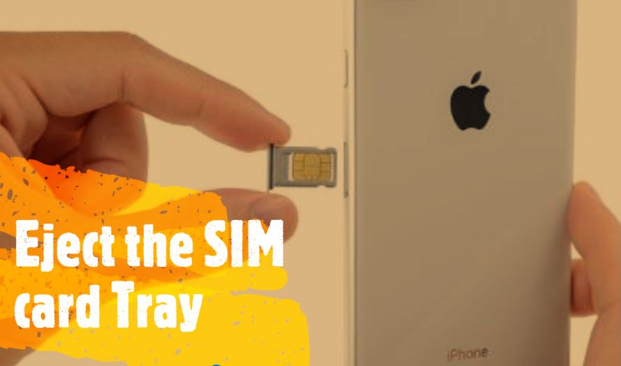 Eject the SIM card tray