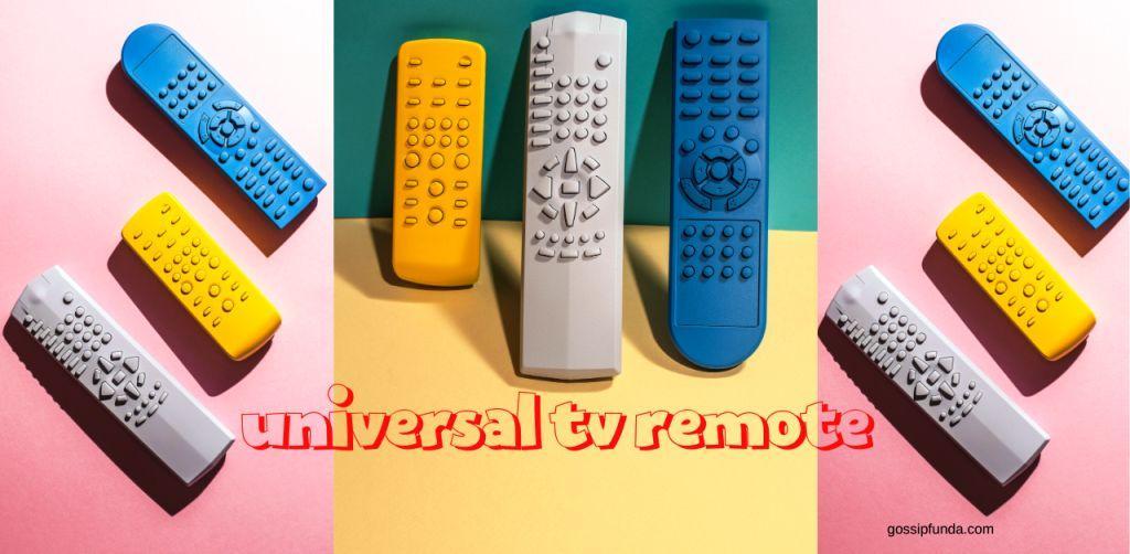 Universal tv remote app