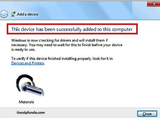 Steps to add Bluetooth in window 7 for pc