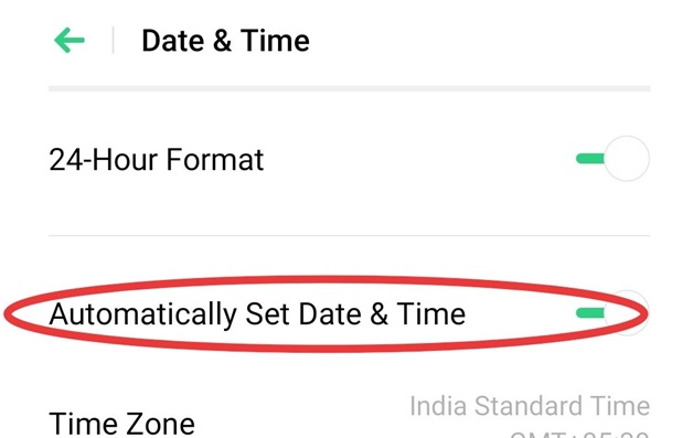 Automatic date & time