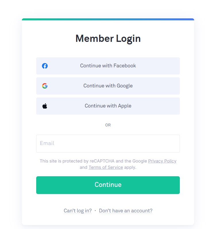 Select Grammarly login and this window appears