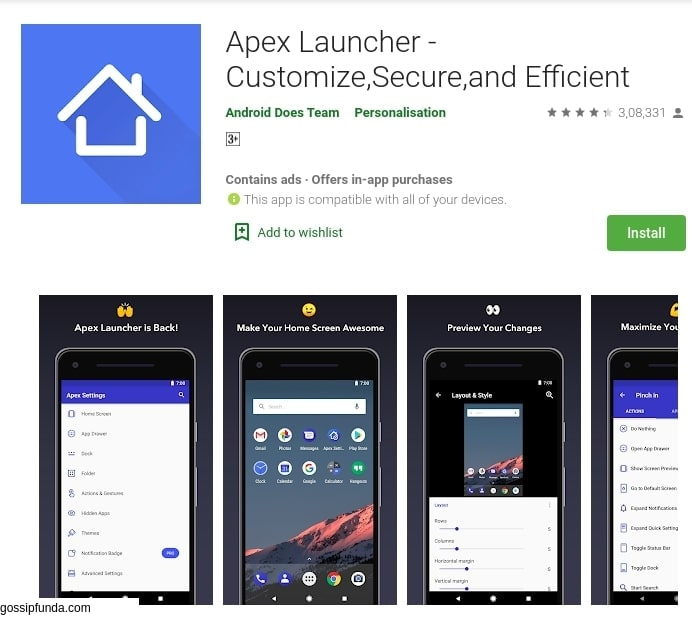 Apex Launcher: Customize,secure and efficient
