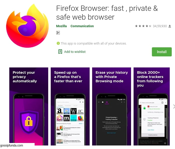 Firefox com.android.browser.home