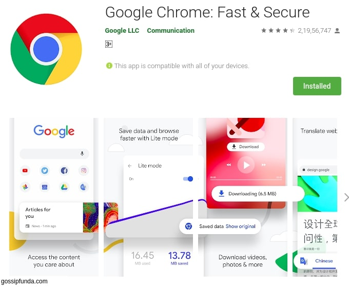 Google content com android browser home