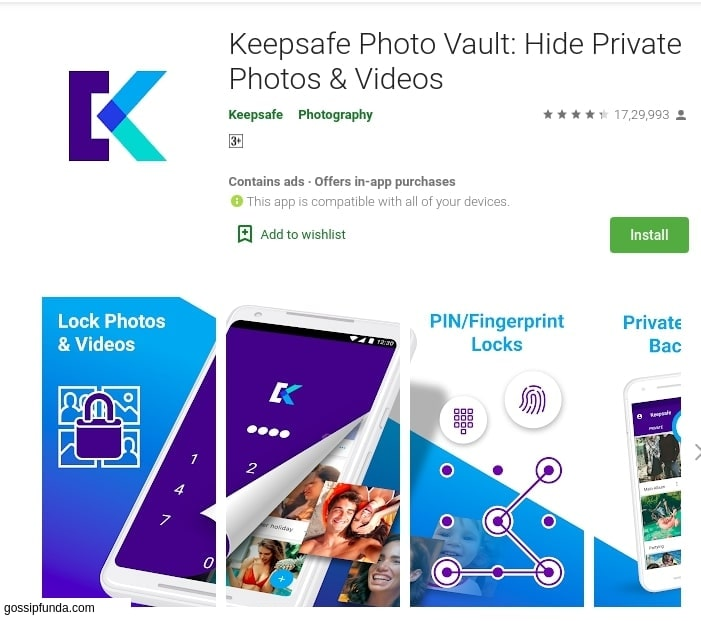 KeepSafe Vault: Hide Private photos and videos