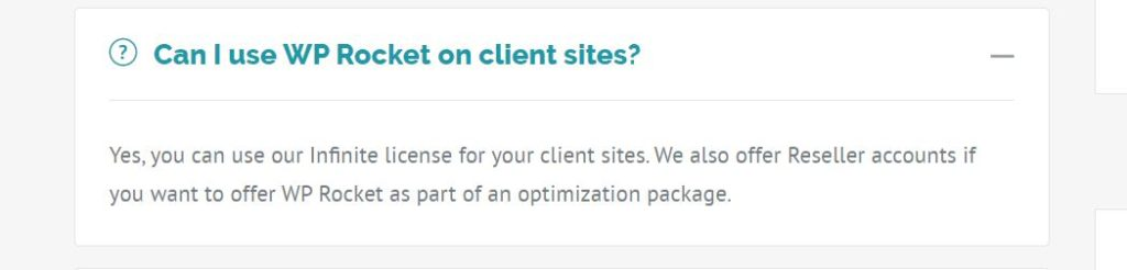 Can I use WP Rocket on client sites?