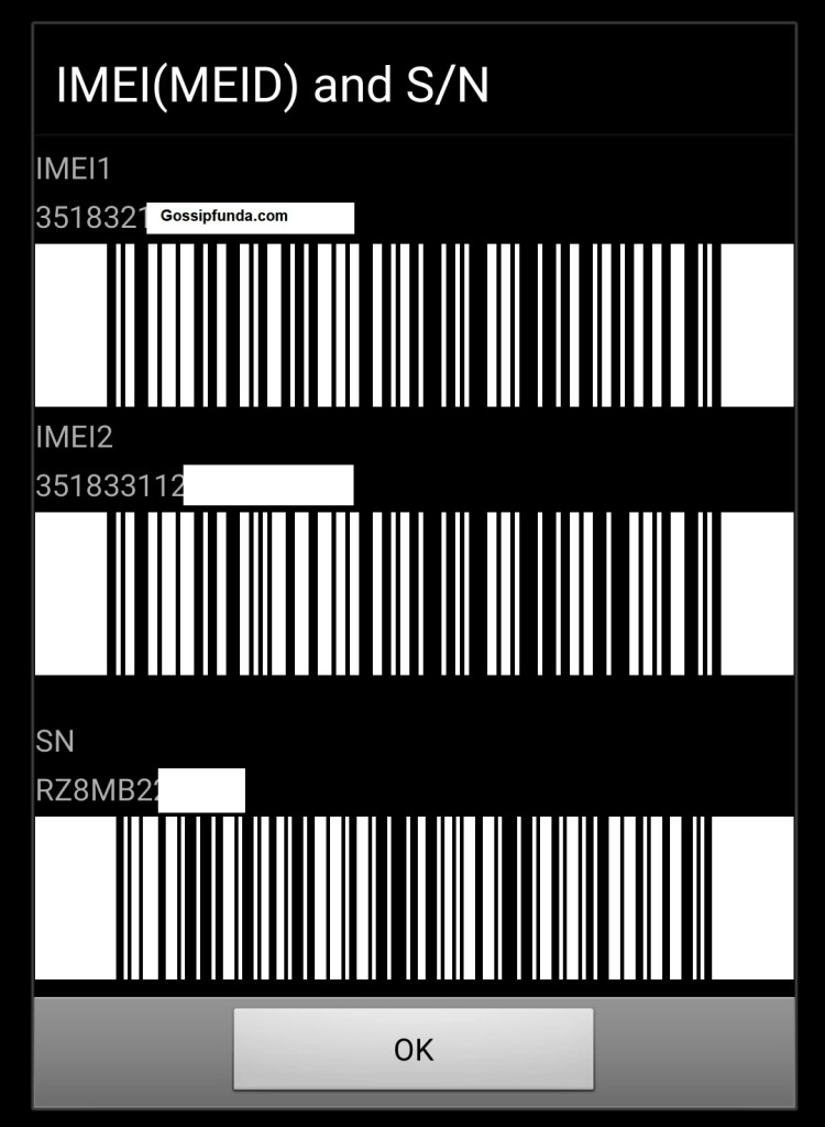 Check the IMEI number using the USSD code