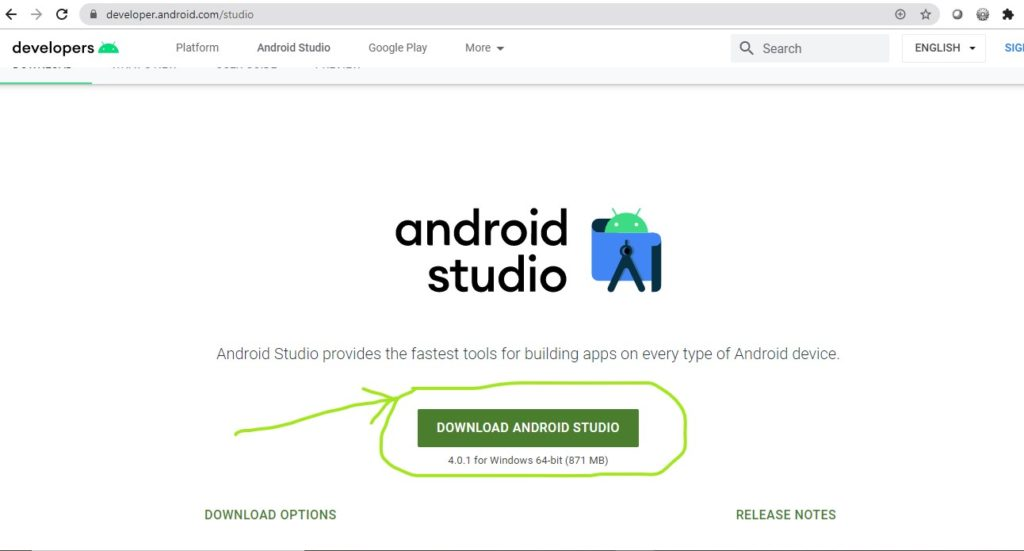 Update the latest Android Studio