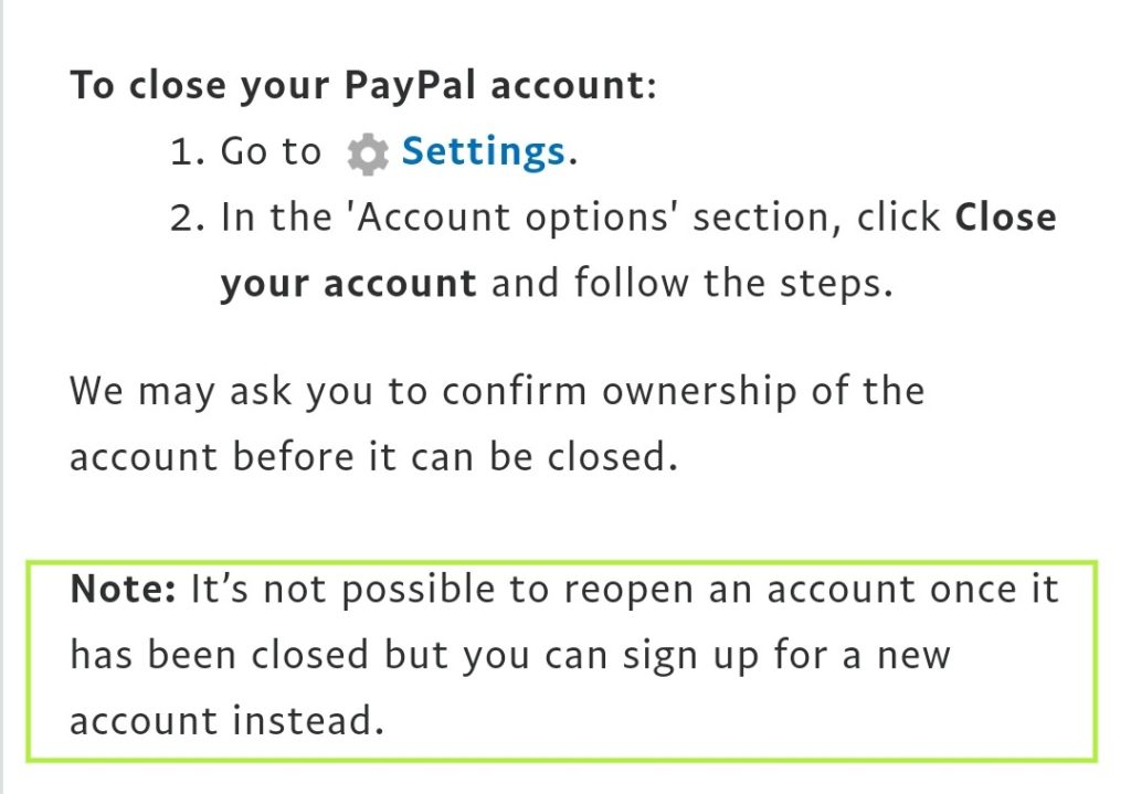 Can you recover the account after it's removal