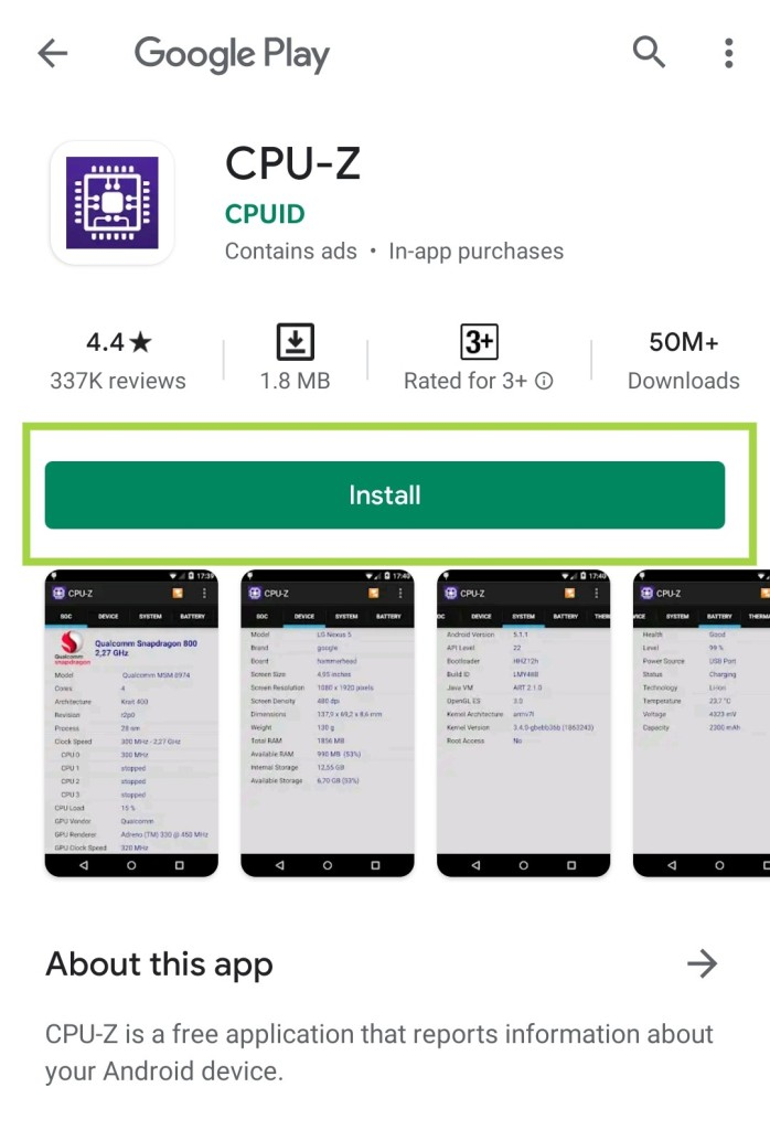 Download and install CPU-Z