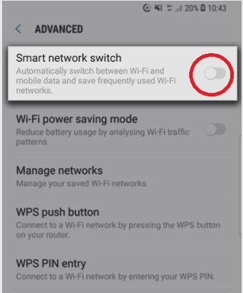 How to enable Smart Network Switch