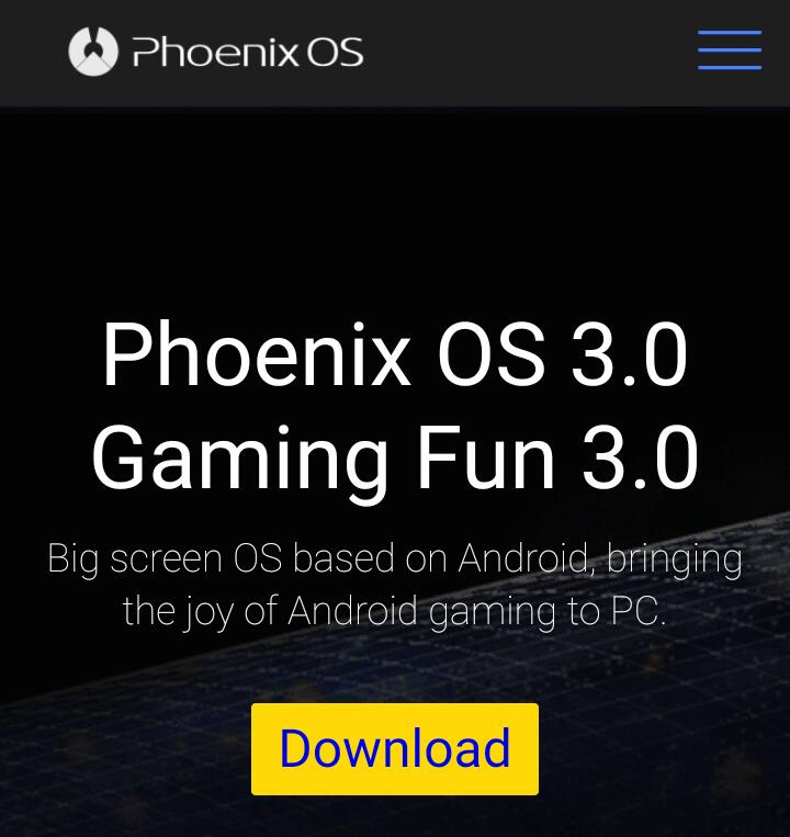 Phoenix Android OS for PC