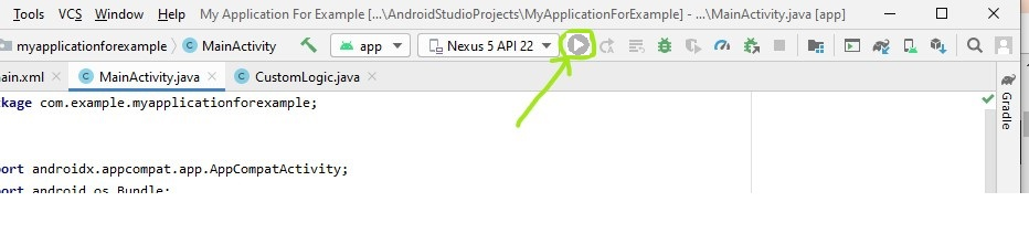 Run button disabled in android studio