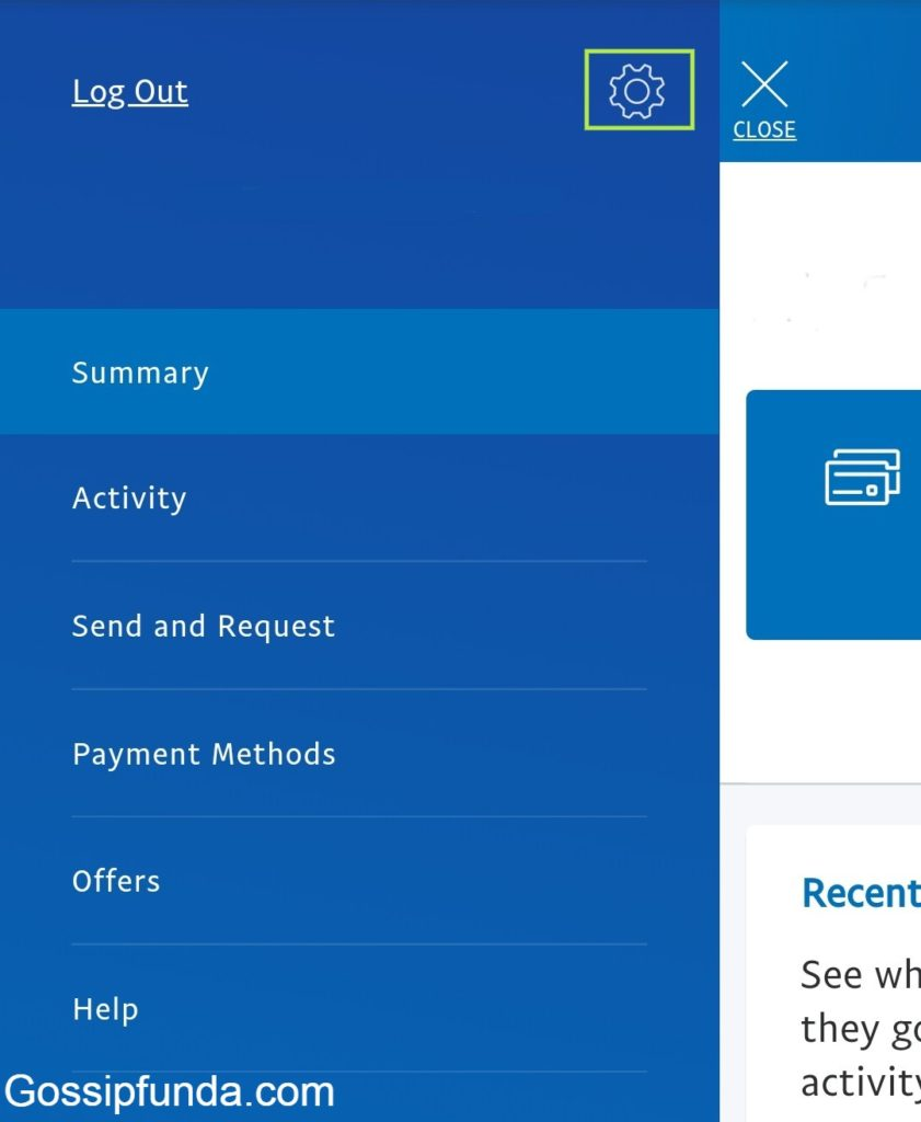 Step by step instructions for mobile users to delete Paypal account