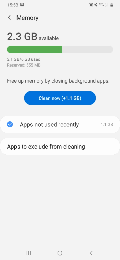 Android Task Manager memory