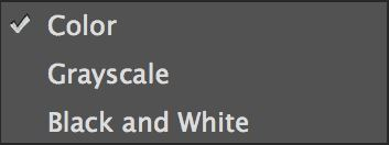 """select from """"color"""", """"Grayscale"""" and """"Black and White"""""""