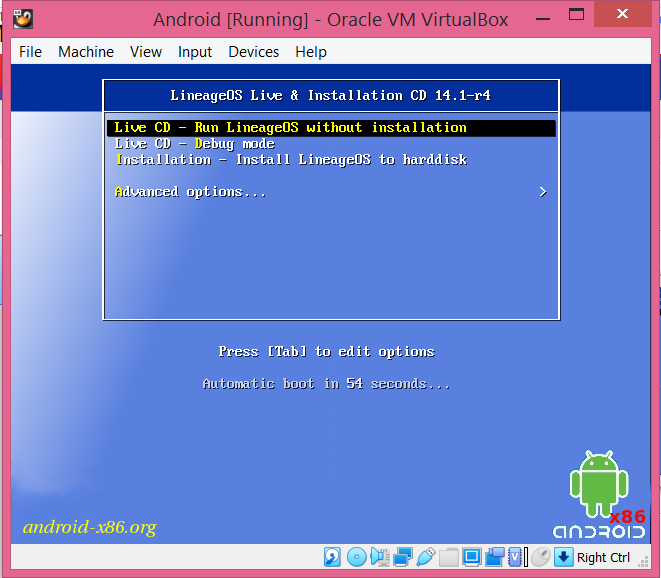 nstallation-Install Android x86 to hard disk