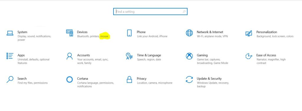 How to turn off mouse acceleration on windows 10?