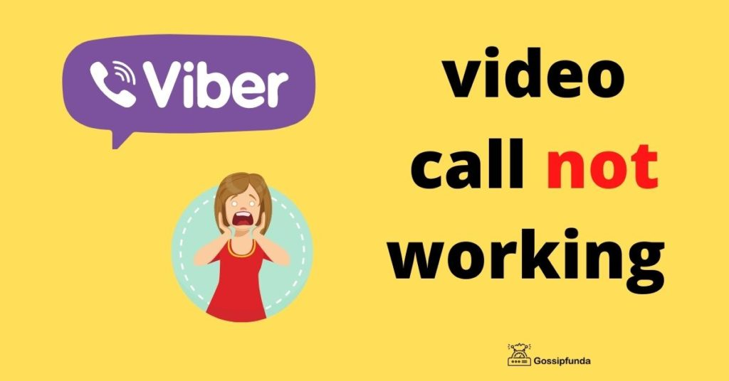 viber video calling not working