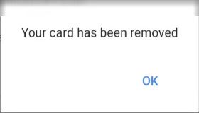 your card has been removed