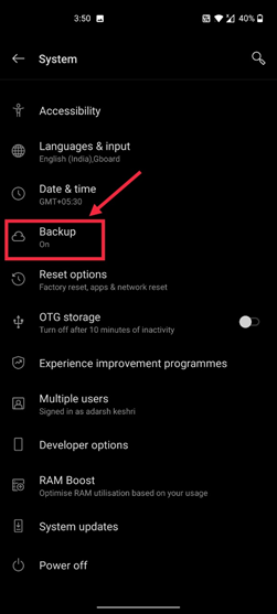 Backup required for Play store check your connection and try again