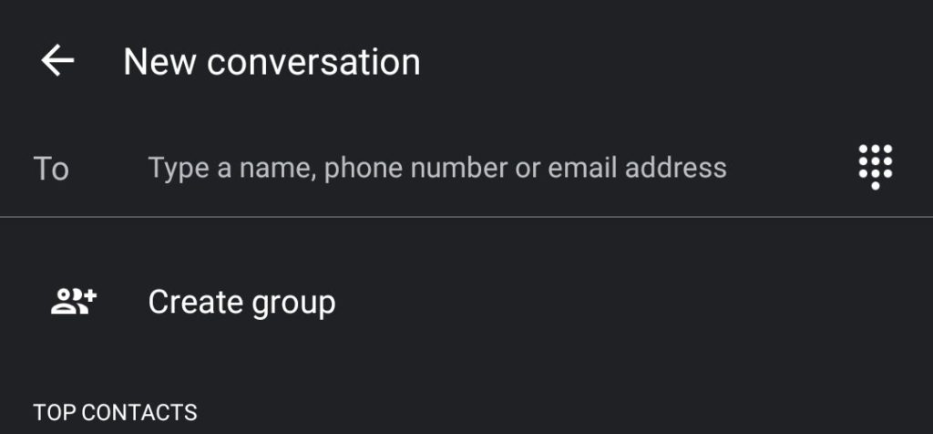 how to create a group text