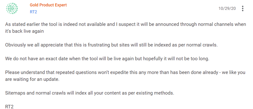 Same problem Page actions are temporarily disabled in Google Search Console