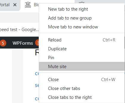How to mute a tab in Chrome