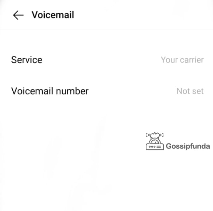 find the service voicemail number