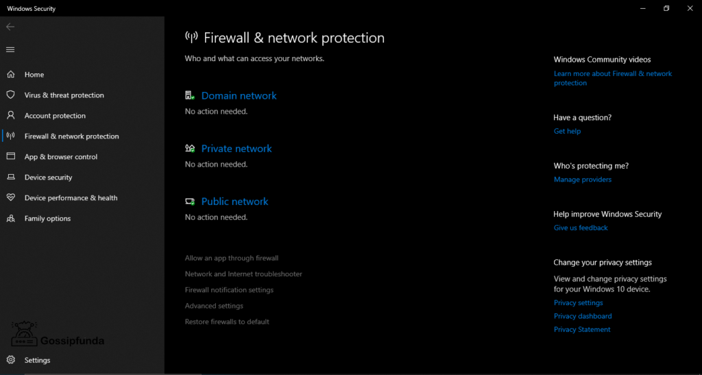 Check your firewall settings  to fix discord stuck on connecting