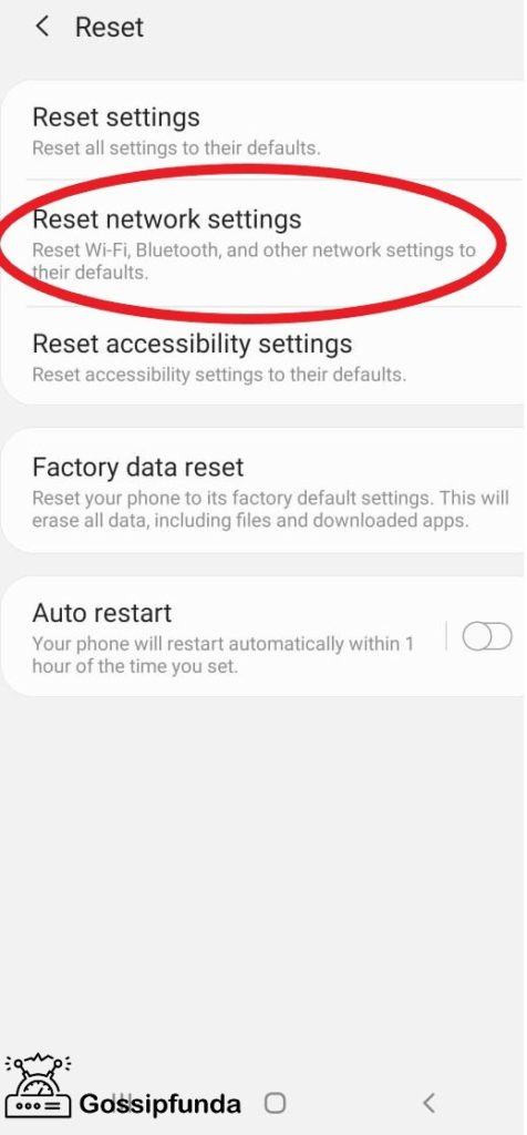 Reset your network