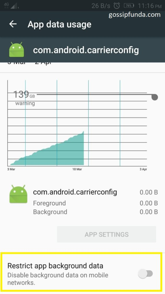 disable com android carrierconfig