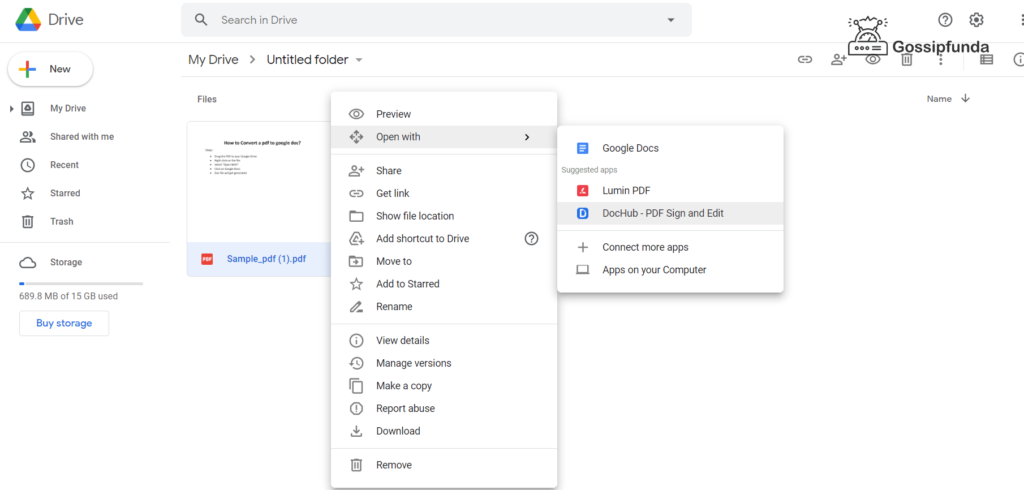 Issues and fixes while converting a pdf to Google doc