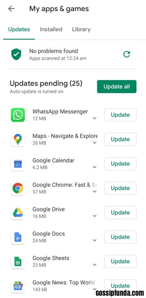 Tap on the one named Updates
