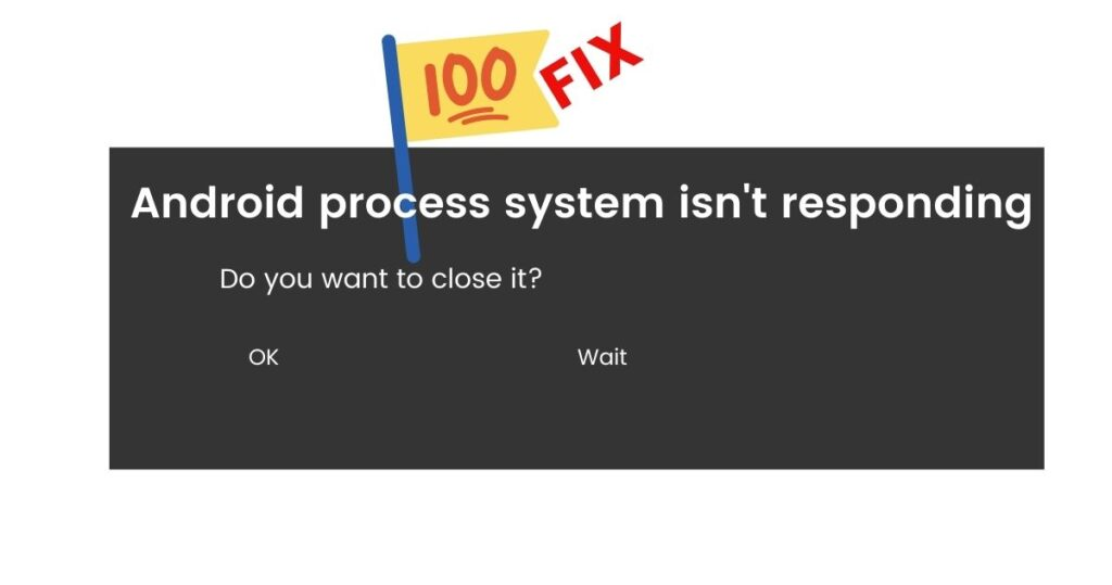 Android process system isn't responding